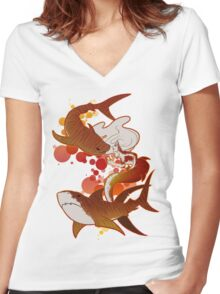 Tigers Women's Fitted V-Neck T-Shirt
