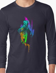 Watercolor Shark Long Sleeve T-Shirt