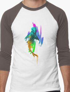 Watercolor Shark Men's Baseball ¾ T-Shirt