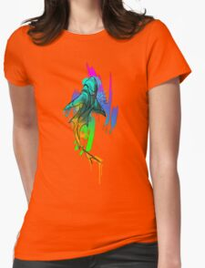 Watercolor Shark Womens Fitted T-Shirt
