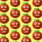 Funny Cartoon Tomato Pattern by Boriana Giormova