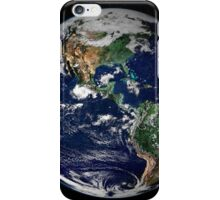 Full Earth showing North and South America. iPhone Case/Skin
