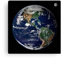 Full Earth showing North and South America. Canvas Print