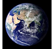 View of the Earth from space showing the eastern hemisphere. Photographic Print