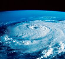 Eye of Hurricane Elena in the Gulf of Mexico. by StocktrekImages