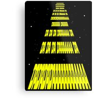 Phonetic Star Wars Metal Print