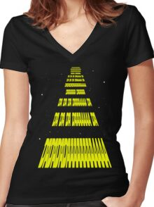 Phonetic Star Wars Women's Fitted V-Neck T-Shirt