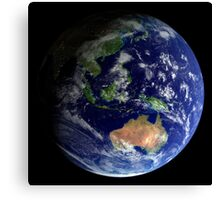 Full Earth from space showing Australia Canvas Print
