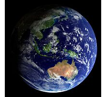 Full Earth from space showing Australia Photographic Print