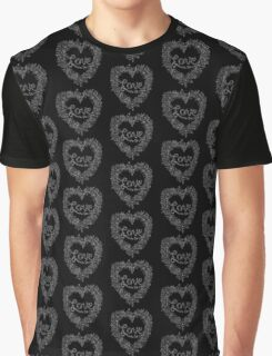 LOVE! (it's white on black) Graphic T-Shirt