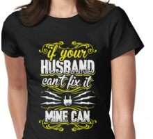 Electrician Wife My Husband Can Fix It Womens Fitted T-Shirt