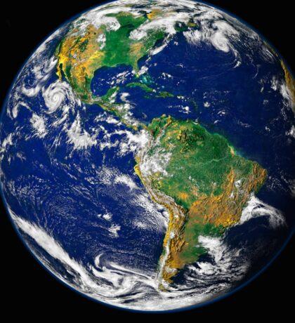 Full Earth showing the western hemisphere. Sticker