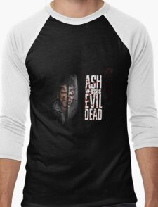 ash vs evil dead Men's Baseball ¾ T-Shirt