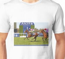 Anticipated  crossing the finish line at Ascot 1st may 2013 Unisex T-Shirt