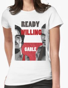 ready willing gable Womens Fitted T-Shirt