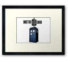 Doctor who T-Shirt Framed Print