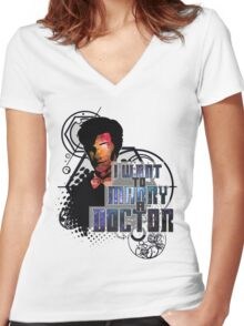 Marry a Doctor Smith Women's Fitted V-Neck T-Shirt