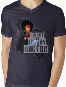 Marry a Doctor Smith Mens V-Neck T-Shirt