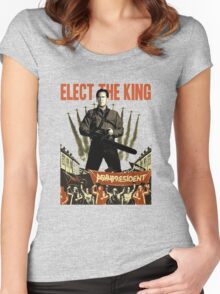 elect the king ash vs evil dead  Women's Fitted Scoop T-Shirt