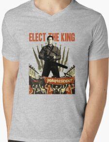 elect the king ash vs evil dead  Mens V-Neck T-Shirt