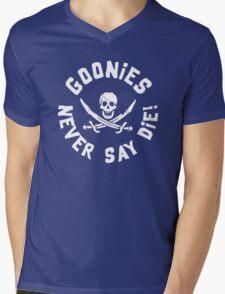 Goonies Never Say Die Mens V-Neck T-Shirt