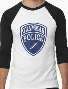 Grammar Police Men's Baseball ¾ T-Shirt
