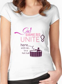 Girl Gamers Unite! Women's Fitted Scoop T-Shirt