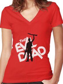 the evil dead ash vs evil dead Women's Fitted V-Neck T-Shirt