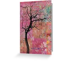 Pink Tree Greeting Card