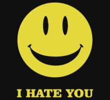 I Hate You Smiley One Piece - Short Sleeve