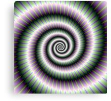 Coiled Spiral in Green and Violet Canvas Print