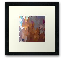 Abstract Geometric Triangles Framed Print