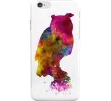 Owl 01 in watercolor iPhone Case/Skin