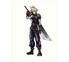 Cloud Strife Final Fantasy VII/Super Smash Bros Art Print