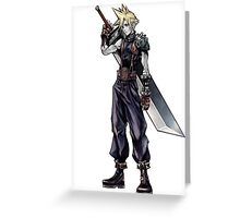 Cloud Strife Final Fantasy VII/Super Smash Bros Greeting Card