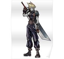 Cloud Strife Final Fantasy VII/Super Smash Bros Poster
