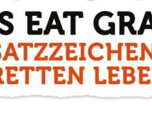 How to eat grandma! Save punctuation life! Sticker