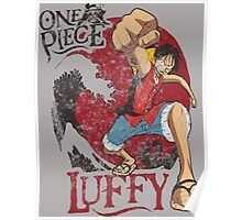 Luffy One Piece - Cartoon Poster