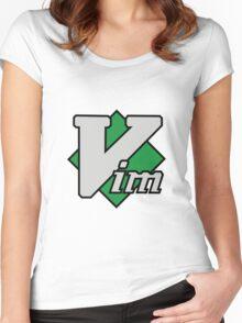 Vim logo Women's Fitted Scoop T-Shirt