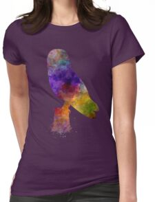 Barn Owl 01 in watercolor Womens Fitted T-Shirt