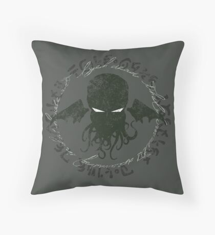 In his house at R'lyeh dead Cthulhu waits dreaming Throw Pillow