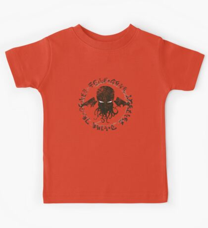 In his house at R'lyeh dead Cthulhu waits dreaming Kids Tee