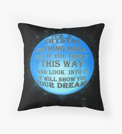 A Crystal - reworked Throw Pillow