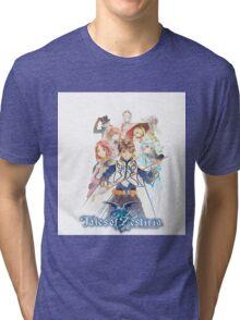 TALES OF ZESTIRIA TSHIRT coverart + logo Tri-blend T-Shirt