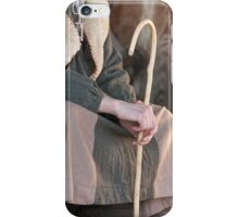 old mant with stick iPhone Case/Skin