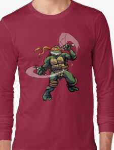 Turtle Power MIKEY Long Sleeve T-Shirt