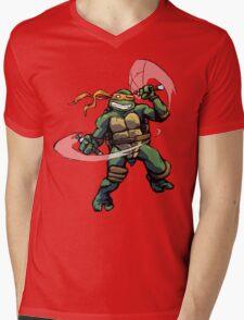 Turtle Power MIKEY Mens V-Neck T-Shirt