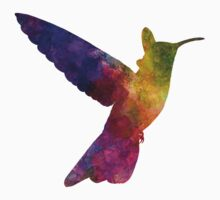 Hummingbird 02 in watercolor Kids Clothes
