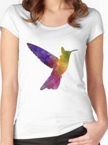 Hummingbird 02 in watercolor Women's Fitted Scoop T-Shirt