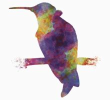 Hummingbird 01 in watercolor Kids Clothes